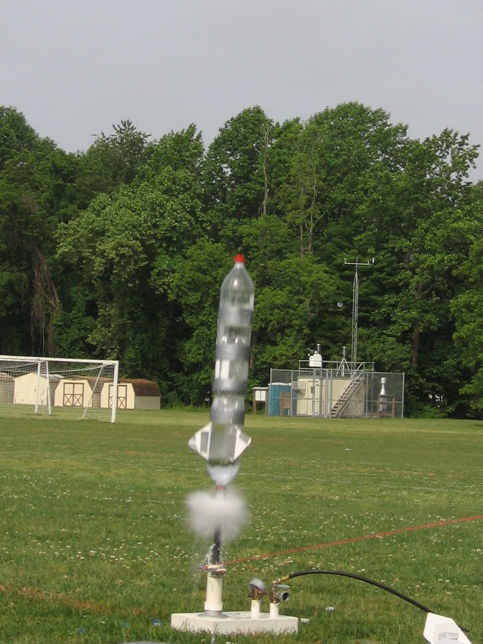 baking soda and vinegar rocket launch