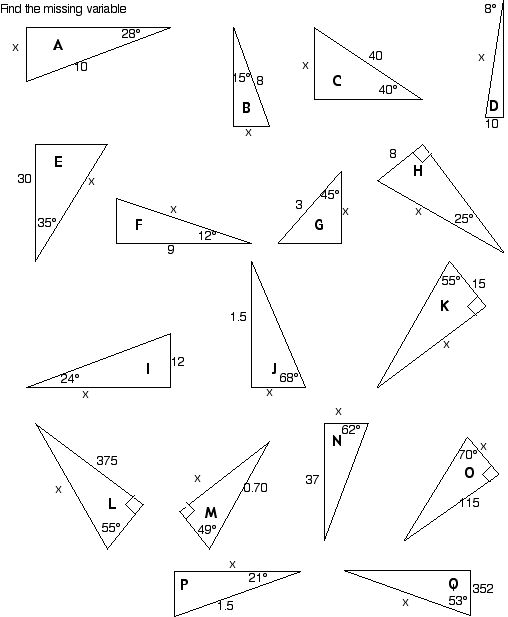 Printables Basic Trigonometry Worksheets ahs vectors and trig worksheets r5 e c r6 a b d r7 r8 r9 r10 r11